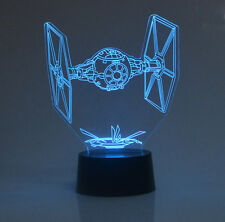 Star Wars Tie Fighter 3D Night Light USB/Battery Powered 7 Color LED Desk Lamp