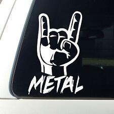 Metal Truck Rock on Decal Sticker Sick Dope Heavy truck Jdm Lift Silver Black