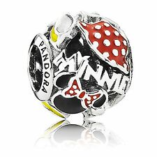 NEW! PANDORA Sterling Silver Disney's Minnie Mania Theme Park Charm 925s