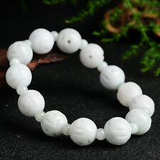 New Natural Grade A Jade (Jadeite) Coin-shaped Beads Bracelet