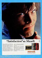 QUATTROR983-PUBBLICITA'/ADVERTISING-1983- MAXELL CASSETTE  (versione A)