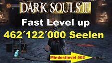 Dark Souls 3 ☆ PS4 ☆462´122´000 SEELEN ☆ LVL 502 ☆ 5 BOSSWAFFEN  o. 107 RINGE☆