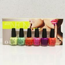 OPI Little Bits of NEON Mini 6pk Pack Summer 2014 Collection 6pc Kit Set DCB15