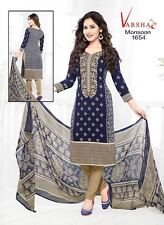 Salwar Kameez Patiyala Suit Indian Bollywood Pakistani Unstitched Synthetic Crep