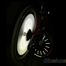 12 Stücke  Fahrrad Speichenreflektor Wahrung Sicherheit Nacht Beleuchten Steifen
