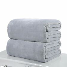 GraySuper Soft Warm Solid Warm Micro Plush Fleece Blanket Throw Rug Sofa Bedding