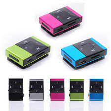 Mini 5 Colors Clip USB Digital Mp3 Music Player Support 8GB SD/TF Card Gift New