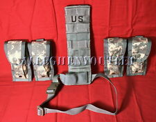 NEW MOLLE II PISTOLMAN SET USGI POCKET ACU (4) 9mm Mag Pouches and Leg Extender