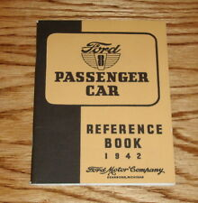 1942 Ford Passenger Car Owners Operators Manual Reference Book 42