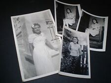 social history 1940's ww2 fashion glamour girl four photographs