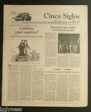 EL NUEVO DIA  / VINTAGE NEWSPAPER / CINCO SIGLOS DE HISTORIA # 11 / PUERTO RICO