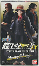"""BANDAI Super One Piece styling EX""""Monkey D Luffy """"Strong Brothers Special Figure"""