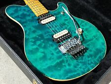 Music Man EVH Eddie Van Halen Aqua Blue Quilt! Beautiful Finish! no Wolfgang
