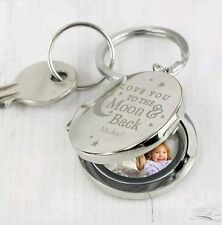 Personalised I Love You To The Moon And Back Photo Keyring Mum and Dad Gift