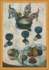 Still Life with Three Puppies Paul Gauguin Hunde Trinken Welpen  B A2 02991