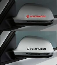 FOR VOLKSWAGEN VW  2 x Wing Mirror CAR DECAL STICKER  POLO GOLF 100mm long