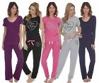 LADIES TOP AND PANTS SET LOUNGE WEAR SLEEP NIGHT SUIT PYJAMA PJ SET