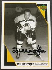 WILLIE O'REE Signed 2006 Upper Deck Commemorative Card AUTHENTIC AUTO Autograph