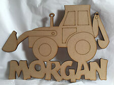 Tractor bedroom door sign MDF 300 x 200mm