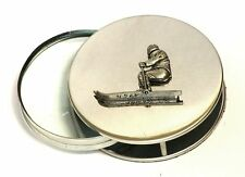 Skiier Skiing Magnifying Reading Glass Desktop Office Alpine Snow Sports Gift