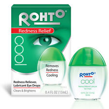 Rohto Cool Redness Relief Eye Drops 0.4 oz cooling -- PACK OF 3
