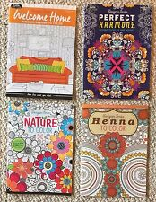 Lot Of 4 New Floral, Art & Architecture Adult Coloring Books BN Grown Up, Relax