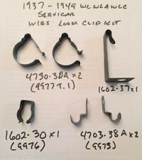 Harley 1937-1949 WL WLA Servicar Main Wire Loom Clip & Clamp Kit 1602-37 4730-30