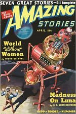 amazing stories VINTAGE COMIC BOOK COVER POSTER april issue SCI-FI 24X36 new