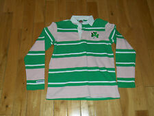 NOTRE DAME BARBARIAN RUGBY WEAR LONG SLEEVE JERSEY SHIRT WOMAN M FIGHTING IRISH