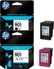 2x HP 901 ORIGINAL TINTE PATRONEN OFFICEJET 4500 J4524 J4535 J4580 g510a g510g