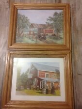 Coca Cola 8 X 10 Pictures Wooden Frames Lot Of 2 EUC