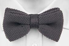 Cruz Self-Tie Wool Bow Tie Gray Grey Tieroom