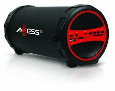 Axess SPBT1031 Portable Bluetooth Speaker with SD Card and USB Input RED New
