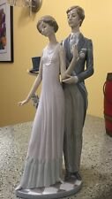 """Lladro #1430 High Society Couple 14.25"""" Porcelain Figurine 1980's Retired Signed"""