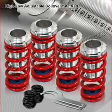 For 1992-1996 Honda Prelude Red Suspension Scale Lowering Coilover Springs Kit