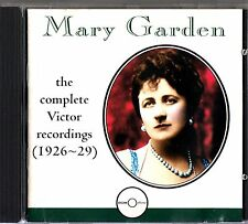 Mary Garden- The Complete Victor 1926-29 Recordings CD (1994 Romophone)