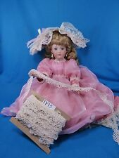 Antique Vintage Ribbon French Trim Doll Craft Millinery Lace Cream Handmade TF15