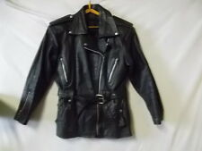 Blouson en cuir noir police Américaine motocycliste USA Screaming- Eagle vintage