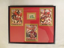 STEVE YOUNG - JOHN TAYLOR - TOM RATHMAN SAN FRANCISCO 49ERS 8X10 FRAME COLLAGE