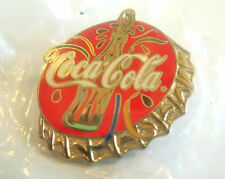 LIMITED EDITION 1/2500 COCA-COLA BOTTLE CAP PIN BADGE 2000 VERY FESTIVE