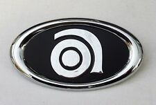 Medium Metal Ampeg Logo - Bass Amp Emblem - NOS