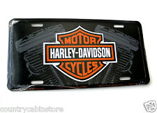 Harley Davidson TWIN MOTORCYCLE METAL EMBOSSED CAR AUTO LICENSE PLATE TAG 6X12