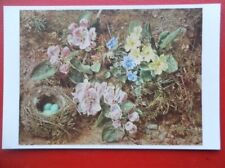 POSTCARD BIRD'S NEST AND APPLE BLOSSOM - WILLIAM HENRY HUNT