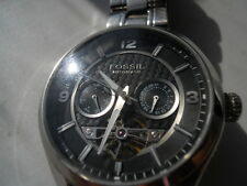 Fossil wind Automatic men's water resistant stainless steel dress watch.ME-1045