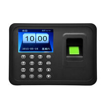 "New A6 2.4"" TFT Fingerprint Time Attendance Clock Employee Payroll Recorder USB"