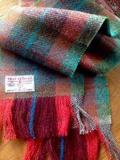 Luxe harris tweed pure laine écharpe rouge bourgogne gris bleu sarcelle vert carreaux punk new