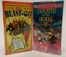 TWO (2) NEW - SEALED Richard Simmons VHS Sweatin' / Oldies 2  &  80's Blast Off