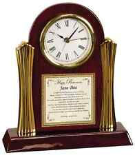 Retirement Farewell Wishes Coworker Colleague Boss Gift Poetry Cherry Desk Clock
