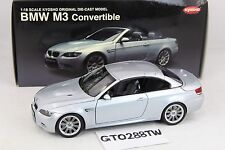 Kyosho 1:18 scale BMW M3 Convertible/Cabrio E93/E93M (Silver) *Working Roof*