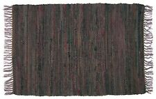 Sturbridge 4' x 6' Country Rag Rug in Tobacco Brown, Hand Woven, 100% Cotton